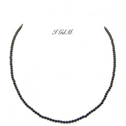 Smooth obsidian necklace 3mm