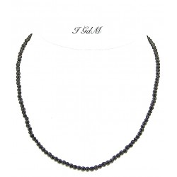Faceted obsidian necklace 3mm
