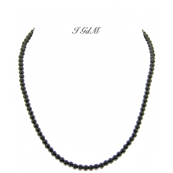 Smooth obsidian necklace 4mm
