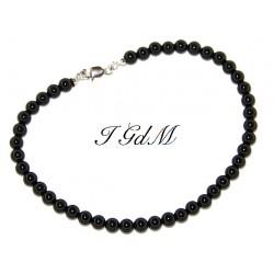 Smooth obsidian bracelet 4mm