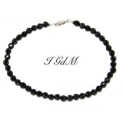Faceted obsidian bracelet 4mm