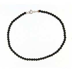 Faceted obsidian bracelet 3mm