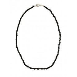 Faceted obsidian anklet 2mm