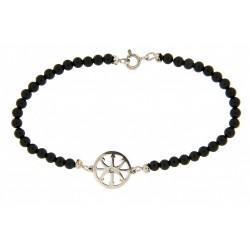 Smooth obsidian bracelet 3mm