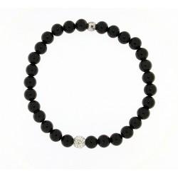 Smooth obsidian bracelet 6mm