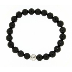 Smooth obsidian bracelet 8mm