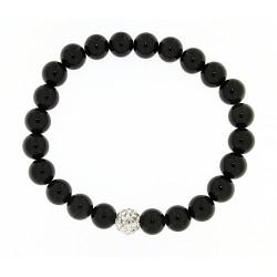 Smooth obsidian bracelet 8mm