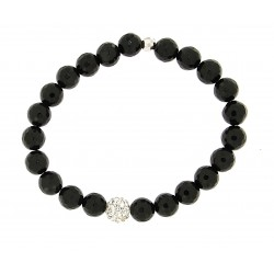 Faceted obsidian bracelet 8mm
