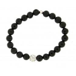 Faceted obsidian bracelet 8mm