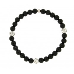 Smooth obsidian bracelet 6mm