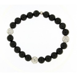 Smooth obsidian bracelet 10mm