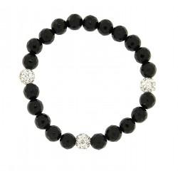 Faceted obsidian bracelet 10mm