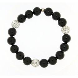 Smooth obsidian bracelet 10mm