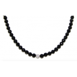 Faceted obsidian 6mm