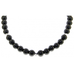 Smooth obsidian necklace 10mm