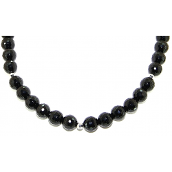 Faceted obsidian 10mm