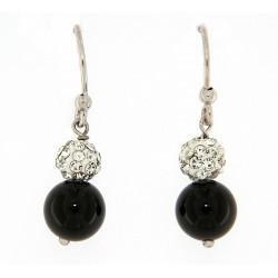 Obsidian earring