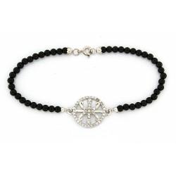 Smooth obsidian bracelet...