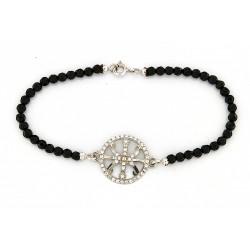 Faceted obsidian bracelet...