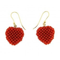Earring heart pendant