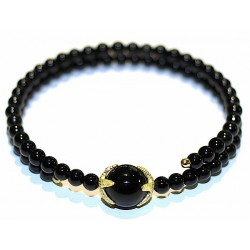 obsidian starfish bracelet