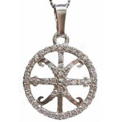 Lipari's zircon symbol pendant