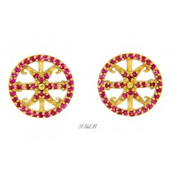 Lipari's symbol rubies earring
