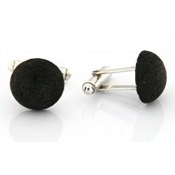 lava stone cufflinks
