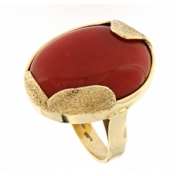dark brown coral ring from...