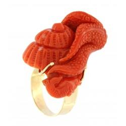 Anello corallo polipo