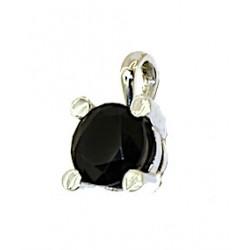 Brilliant cut obsidian pendant