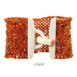 Bracciale corallo tessito
