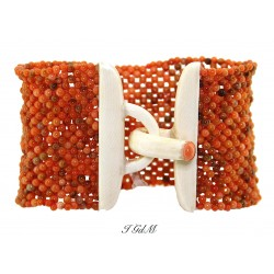 Coral and ivory coral bracelet
